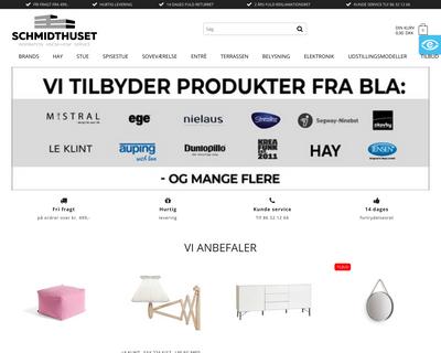 schmidthuset.dk website
