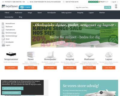 sejsdyner.dk website