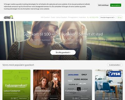 sendentanke.dk website