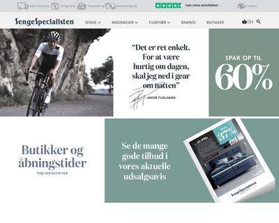 sengespecialisten.dk website