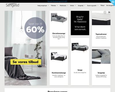 sengetid.dk website