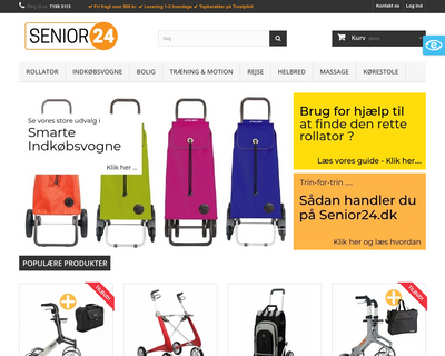 senior24.dk website