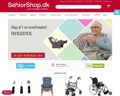 seniorshop.dk website