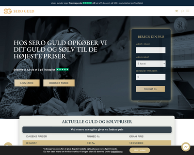 seroguld.dk website