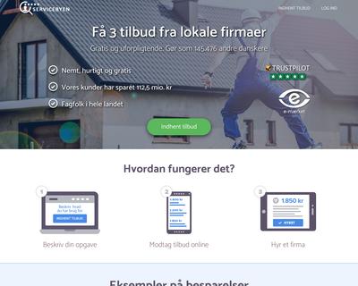 servicebyen.dk website