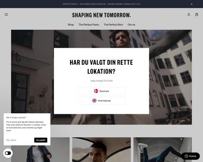 shapingnewtomorrow.dk website