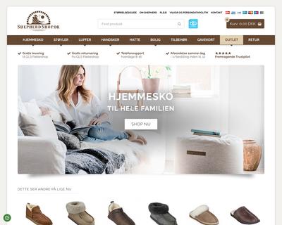 shepherdshop.dk website