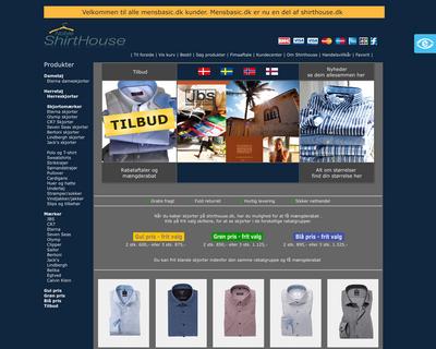 shirthouse.dk website