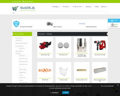 www.shobdk.dk website