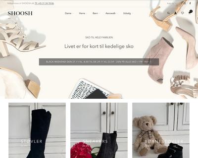 shoosh.dk website
