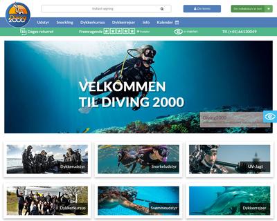 shop-diving2000.dk website