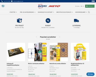 shop.avery.dk website