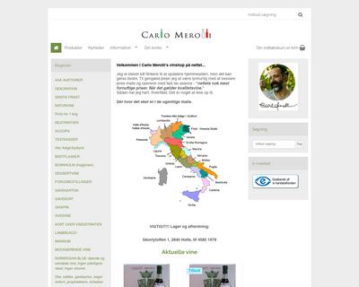 shop.carlomerolli.dk website