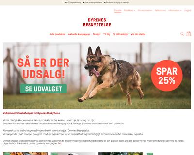 shop.dyrenesbeskyttelse.dk website