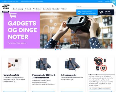 shop.experimentarium.dk website