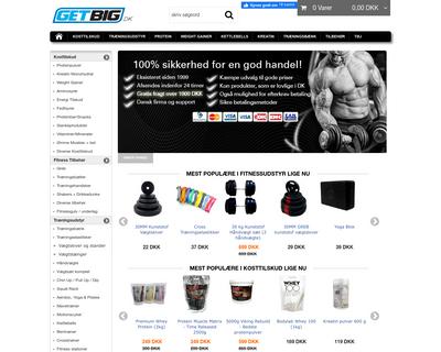 shop.getbig.dk website