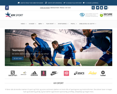 shop.kmsport.dk website