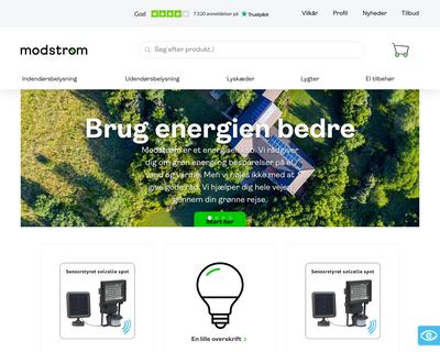 shop.modstroem.dk website