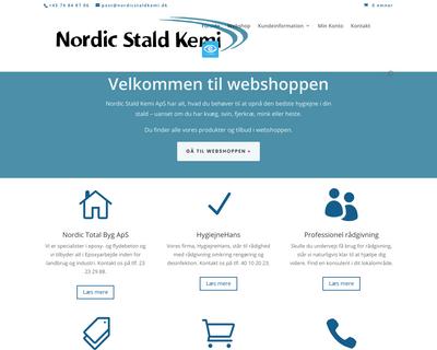 shop.nordicstaldkemi.dk website