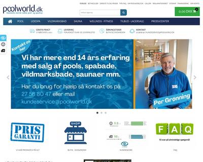 shop.poolworld.dk website