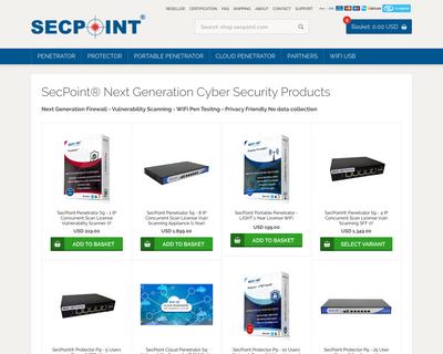 shop.secpoint.com website