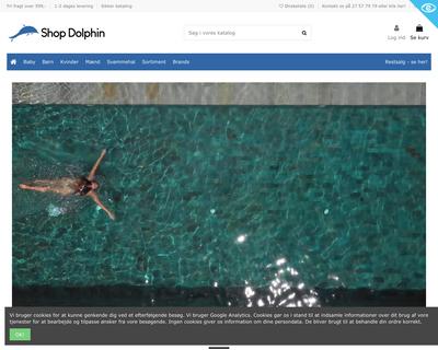 shopdolphin.dk website