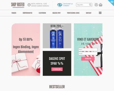 shoprosted.dk website