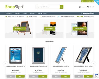 shopsign.dk website