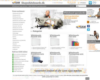 shopwhiteboards.dk website