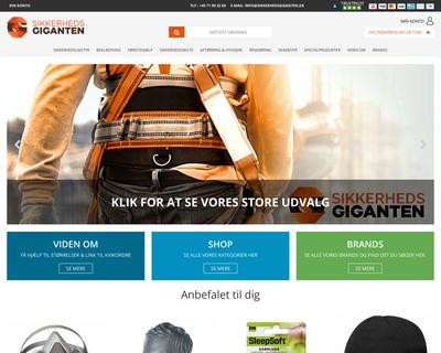 sikkerhedsgiganten.dk website