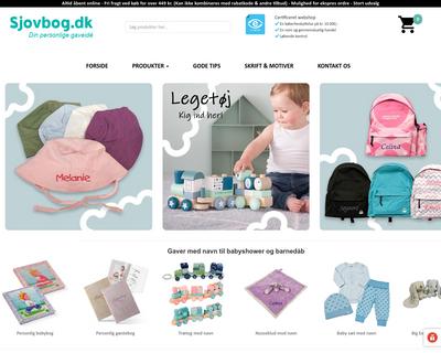 sjovbog.dk website
