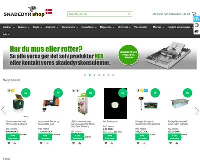 skadedyrshop.dk website