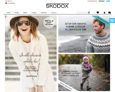 www.skobox.dk website