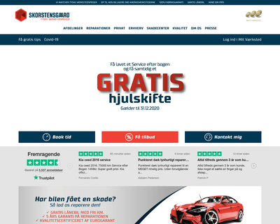 skorstensgaard.dk website