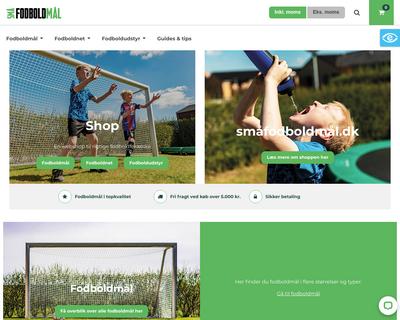 smaafodboldmaal.dk website