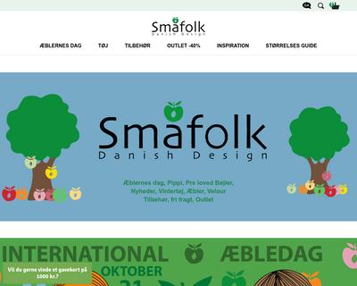 smafolk.dk website