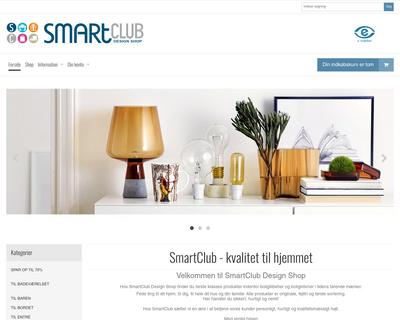 smartclub.dk website