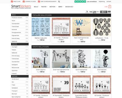 smartstickers.dk website