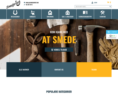 smedjeriet.dk website