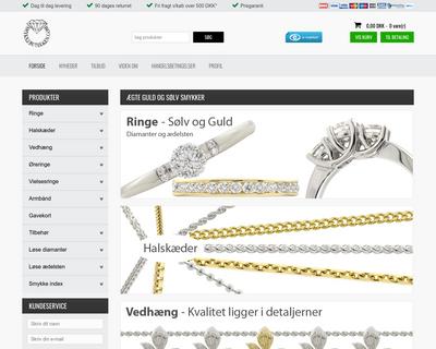 smykkebutikken.com website