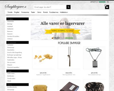 smykkegave.dk website