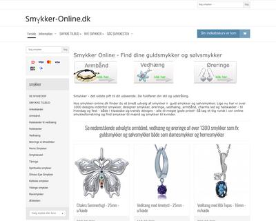 smykker-online.dk website