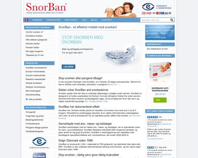 snorban.dk website
