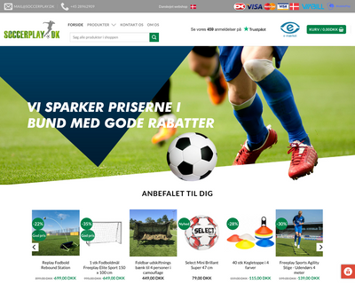 soccerplay.dk website