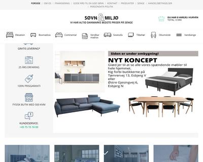 soevnogmiljoe.dk website