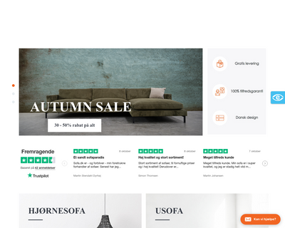 sofa.dk website