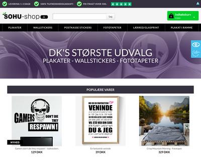 sohu-shop.dk website
