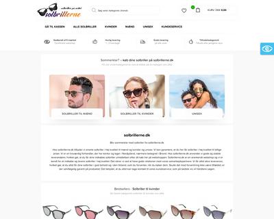 solbrillerne.dk website