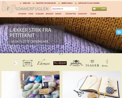sommerfuglen.dk website
