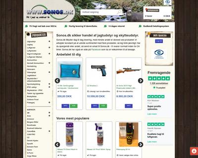 sonos.dk website